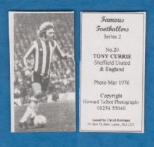 Sheffield United Tony Currie England 20